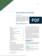 Examen clinique en stomatologie