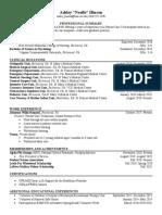 nursing professional resume  1