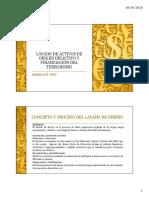 Clase Teórica Lavado de Activos de origen delictivo y financiación del terrorismo