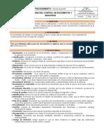 Procedimiento Elaboración Control de Documentos y  Registros