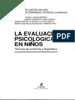 Castro Solano - La Evaluacion Psicologica en Niños - Caps 1, 2, 5 y 6 OCR.pdf