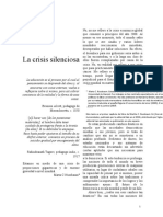 La crisis silenciosa