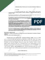 Agravo regimental solicitando o afastamento de José Gomes da CLDF