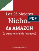 25 Mejores Nichos de Amazon - unavidaonline.com