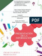 Castro Vazquez_Denisse Monserrat_Unidad III_Actividad 10 Presentación de la información
