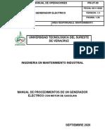 MANUAL DEL GENERADOR ELECTRICO