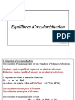 Equilibres doxydo-réduction