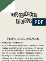 TIEMPO DE SOLIDIFICACION