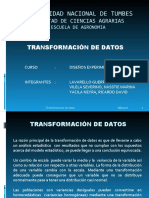 TRANSFORMACION DE DATOS