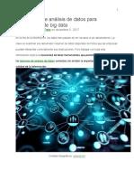 10 técnicas de análisis de datos para estadísticas de big data
