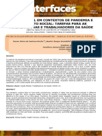 SAÚDE MENTAL EM CONTEXTOS DE PANDEMIA E ISOLAMENTO SOCIAL