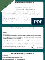 Língua Francesa - Aula 19