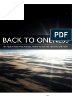 Back to Oneness Report