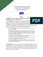 1er Cuestionario de Derecho Procesal Penal III