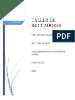 TALLER DE INDICADORES (YOEL ANTONIO) - FIDEL GONZALEZ SUAREZ TGL-54
