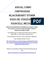 Manual como configurar blackberry storm 9530 de verizon a iusacell mexico