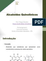 12 - Alcaloides Quinolínicos