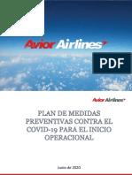 Plan de medidas preventivas ante el COVID-19-On line 23062020
