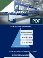DISEÑO DE ELEMENTOS DE MAQUINAS 1 - ppt - 2020 A