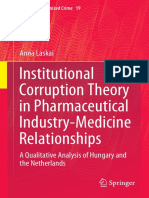 Anna Laskai - Institutional Corruption Theory in Pharmaceutical Industry-Medicine Relationships_ A Qualitative Analysis of Hungary and the Netherlands-Springer Internat