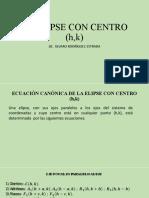 LA ELIPSE CON CENTRO (h,k)