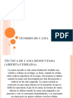 TENDIDO DE CAMA