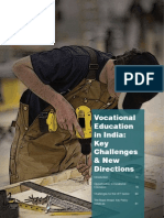 Vocational Education In India Key Challenges and New Directions
