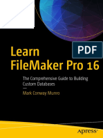 Learn FileMaker Pro 16 the Comprehensive Guide to Building Custom Databases