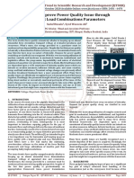 Study of Improve Power Quality Issue through Different Load Combinations Parameters