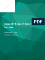 [Kaspersky] Kaspersky Endpoint Security 10 for Linux Administrator's Guide Application version 10