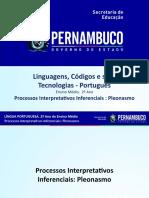 Processos interpretativos inferenciais pleonasmo.