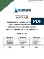 NL_1200_CN_PRC_WAY_QA_000016 Proce. Densidad y Rendimiento de Concreto Fresco_Tecnovias rev0