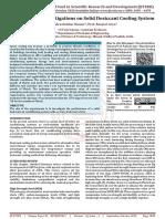 Experimental Investigations on Solid Desiccant Cooling System
