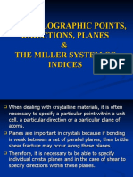 7. MILLER System of Indices