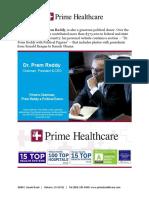 Prime's Chairman, Prem Reddy a Political Donor