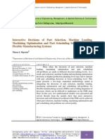 Interactive Decisions of Part Selection, Machine Loading, Machining Optimisation and Part Scheduling Sub-problems for Flexible Manufacturing Systems