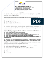 ATIVIDADE II - ESPORTES COLETIVOS I (FUTEBOL E FUTSAL)