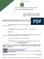 Resolução n° 14- Aprova o Regulamento de Auxílios Estudantis no âmbito do IFCE