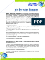POLÍTICA DE DERECHOS HUMANOS  INNOVA EXPRESS