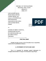 Civ. Pre-trial Brief