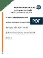 Trabajo de Investigación - Analisis de mercado