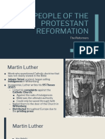 PEOPLE OF THE PROTESTANT REFORMATION slides