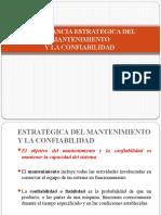 IMPORTANCIA ESTRATÉGICA DEL MANTENIMIENTO