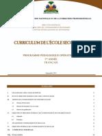 Francais--Programme-detaille--1e_annee_Nouveau_Secondaire_Haiti
