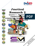 Practical Research(Characteristics, Weaknesses and Quantitative Research