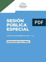12-11-2020 SESIÓN PÚBLICA ESPECIAL - INFORMACIÓN PARA PRENSA