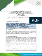 Guía de actividades y rúbrica de evaluación - Unidad 3 - Tarea 5 - Solución de problemas de Balance de Energía