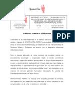 PROCEDIMIENTO MANEJO DE RESIDUOS SOL PATRIX