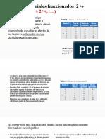 Diseños factoriales fraccionados