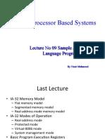 09 Lecture No 09 Sample Assembly Language Program